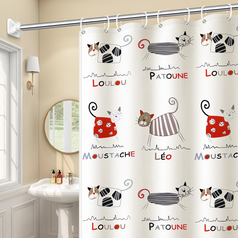 卫生间卡通防水遮挡防霉淋浴挡水帘性价比高吗