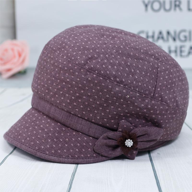 春秋季中老年女帽子薄款布帽妈妈礼帽老人盆帽中年渔夫帽奶奶单帽