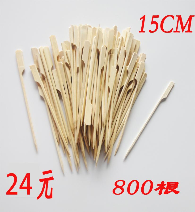 关东煮竹签子商用批麻辣烫烧烤签铁炮串一次性扁签15cm刻字定制