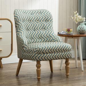 美式单人沙发椅欧式北欧沙发卧室阳台懒人休闲布艺小沙发椅