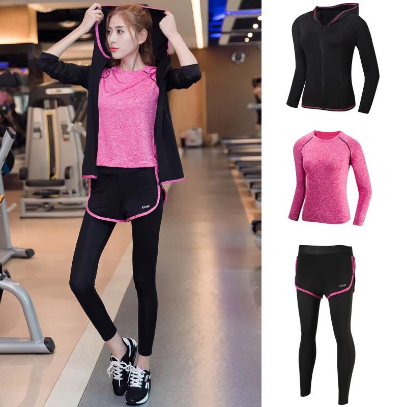 阿妮丝网红瑜伽服女晨跑套装女夏季运动跑步衣服紧身健身房速干衣10月19日最新优惠