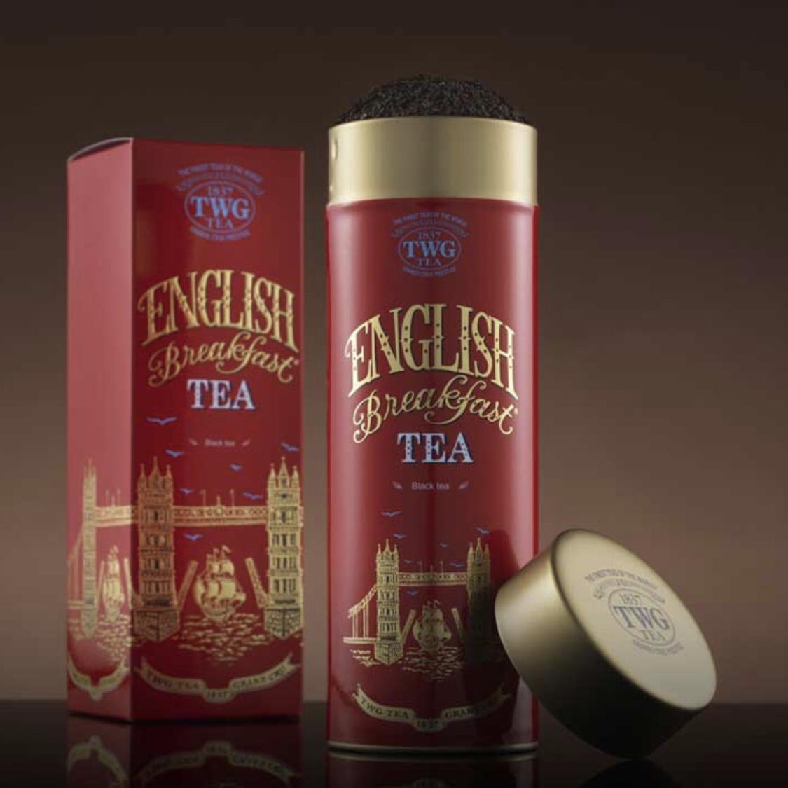 现货 新加坡特产 新加坡TWG茶叶英国早餐红茶 tea 100g礼盒 包邮