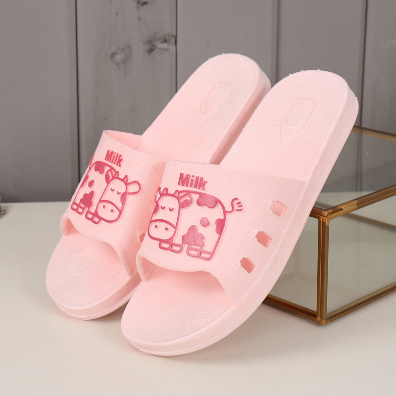 Indoor slippers for home use: men and womens thick bottomed bathrooms in summer