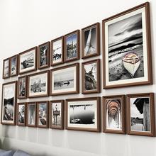 客厅照片墙装饰免打孔相框墙上相册相片框挂墙组合创意中式背景墙