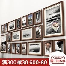 客厅照片墙装饰免打孔相框墙上相片相册框挂墙组合创意沙发背景墙