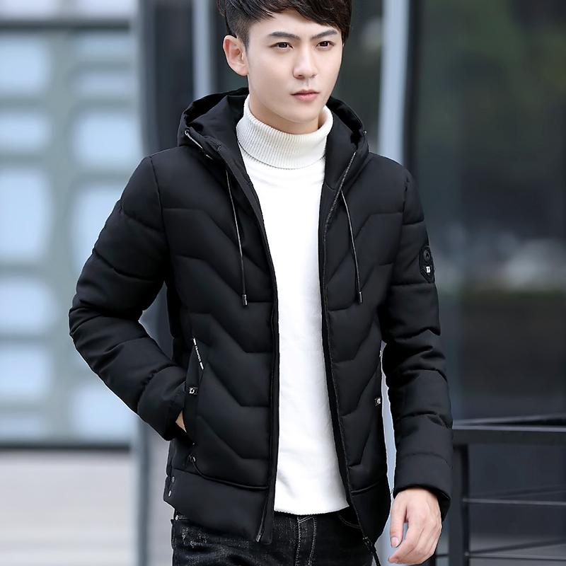2017新款男士韩版修身棉衣服百搭秋冬季个性男装外套帅气潮流夹克