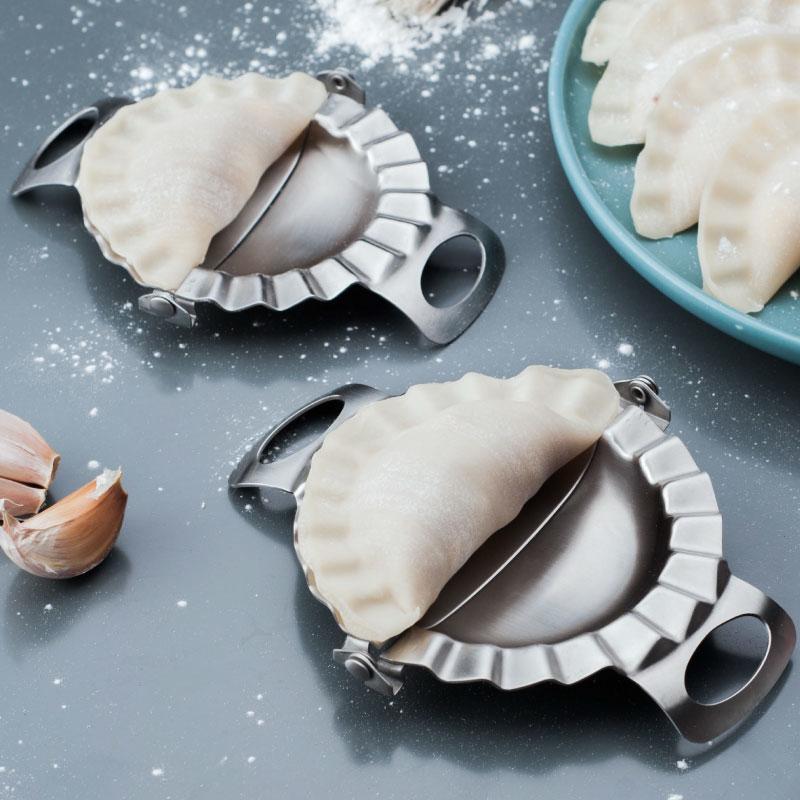304不锈钢包饺子神器家用花型创意包邮模具一套水饺子皮工具套装