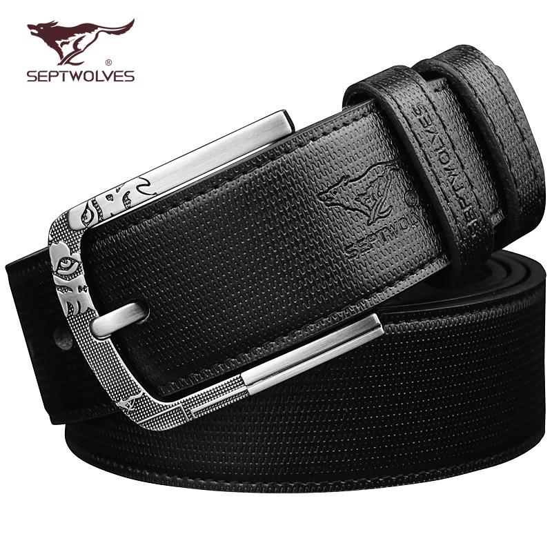Seven wolf fat mens long leather belt 140cm fat cow leather widened large size pin buckle belt 150