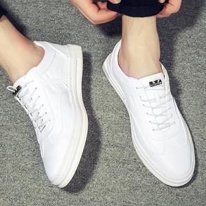 2017夏季新款潮鞋韩版洞洞白色男士休闲板鞋透气皮鞋小白鞋男鞋子