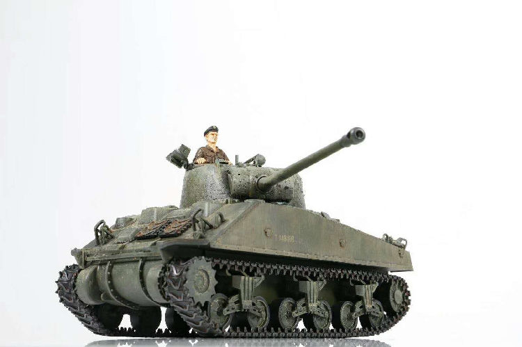 Fov 1:32 美军二战主战坦克谢尔曼M4萤火虫 合金成品仿真静态模型