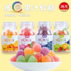 潮茂维生素c果汁jk罐装小零食软糖