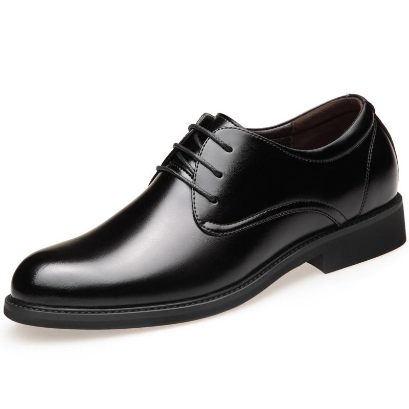 2020皮鞋男士秋冬季商务正装真皮休闲英伦韩版内增高加绒保暖男鞋