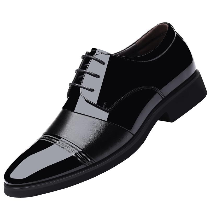 2020新款正品皮鞋商务德比正装系带真皮英伦新郎黑色休闲皮鞋潮流