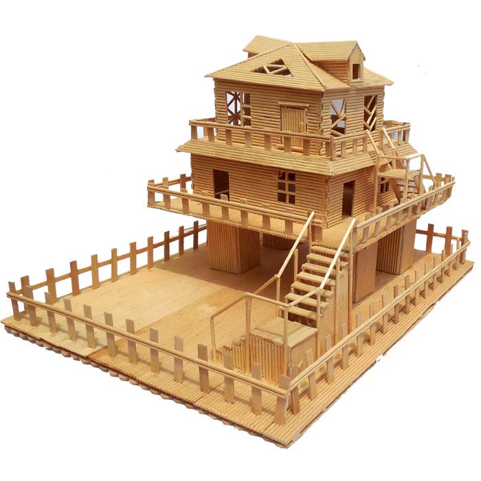 券后68.60元diy小屋手工房子拼装别墅木棒模型