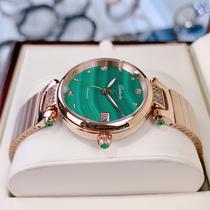 卡罗莱女表机械表十大名品牌正品防水简约气质时尚女士手表小绿表
