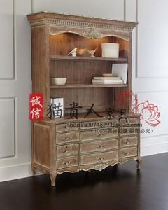 法式新古典实木雕花复古装饰储物柜美式欧式简约玄关柜餐边柜书柜