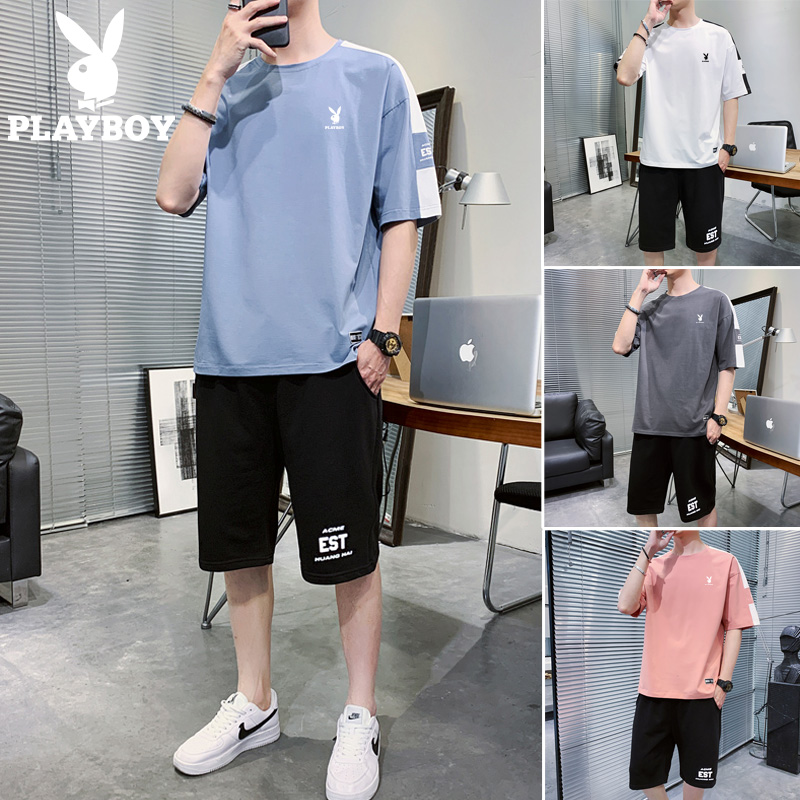 Playboy spring and autumn men's casual suits trend loose and handsome young men's autumn clothes