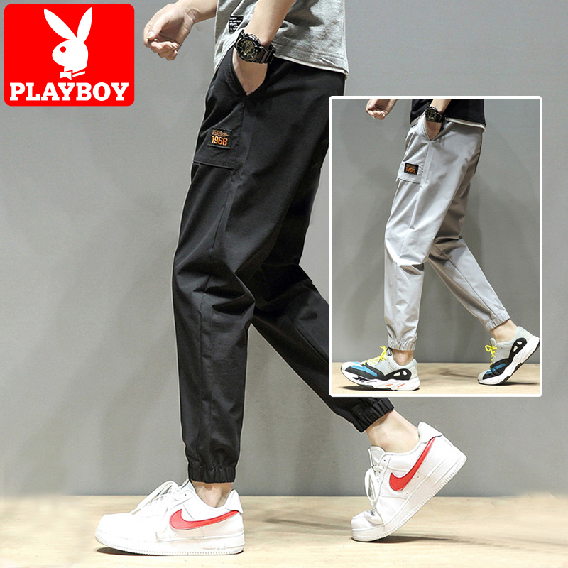 Playboy casual pants men 's trend Haren nine point pants loose and versatile with summer ruffian handsome long pants