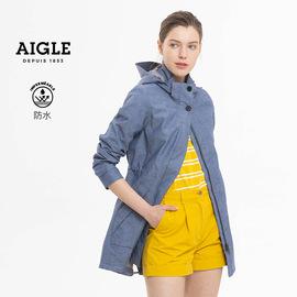 法国AIGLE艾高 女士中长款MTD防水透汽夹克冲锋衣 LAURA OX