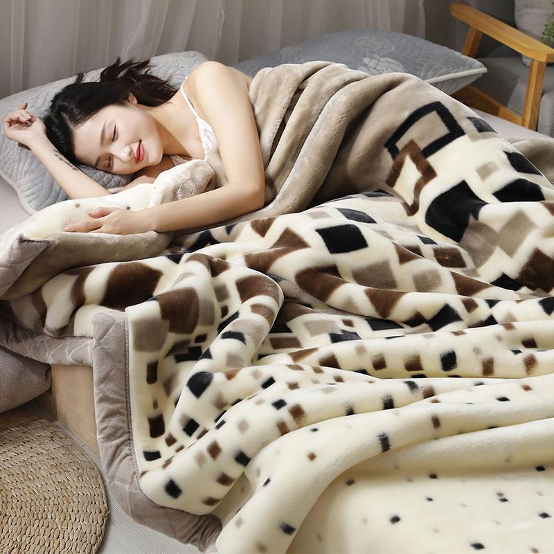 Зима уплотнённый двухслойный шерстяные одеяла фланель теплый одеяло двойной коралл одеяла один студент комната с несколькими кроватями крышка одеяло
