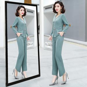 阔腿裤套装女2020夏季新款气质轻熟风洋气减龄裤装小个子两件套裤