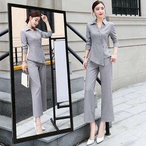 女神范阔腿裤套装女2020新款春季矮个子时尚洋气名媛小香风两件套