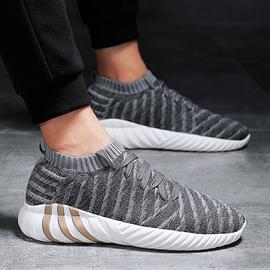 2020春夏季回力飞织男鞋单层轻便透气软底运动休闲袜子鞋防臭跑鞋