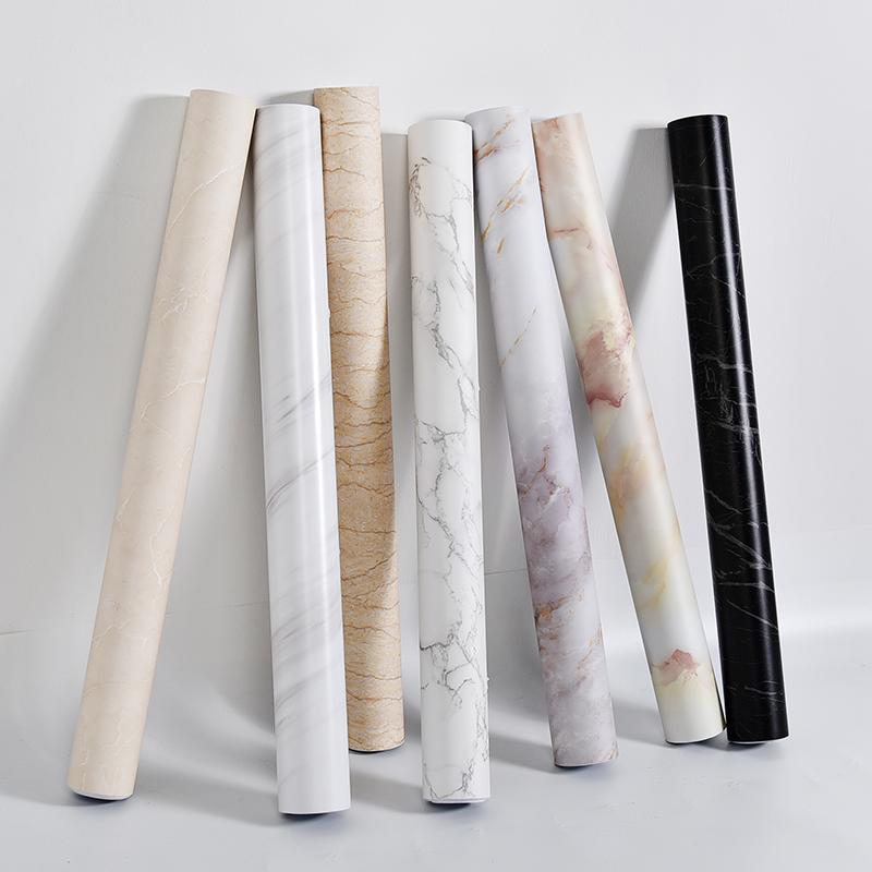 加厚大理石墙纸自贴防水哑面卫生间壁纸家用厨房防油墙纸背景墙