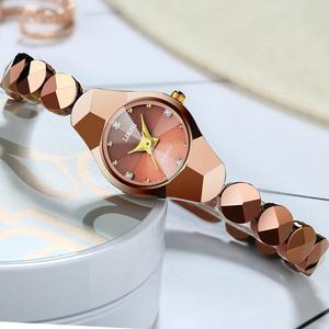 正品时尚防水石英手表女学生手链手表韩版简约钨钢色女表女士腕表