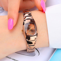 正品手表女学生韩版简约时尚潮流女士手表防水钨钢色石英女表腕表