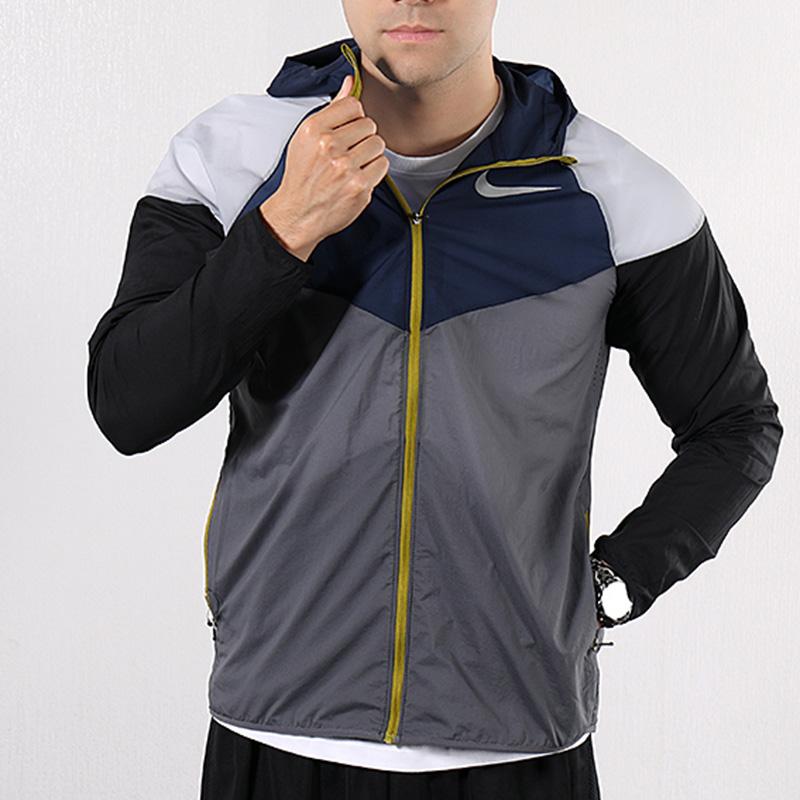 热销0件手慢无Nike耐克外套男装2019夏季新款梭织防风衣运动休闲薄款连帽夹克