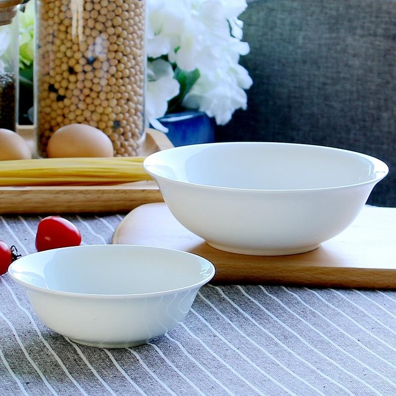 景德镇纯白色家用陶瓷餐具骨瓷碗