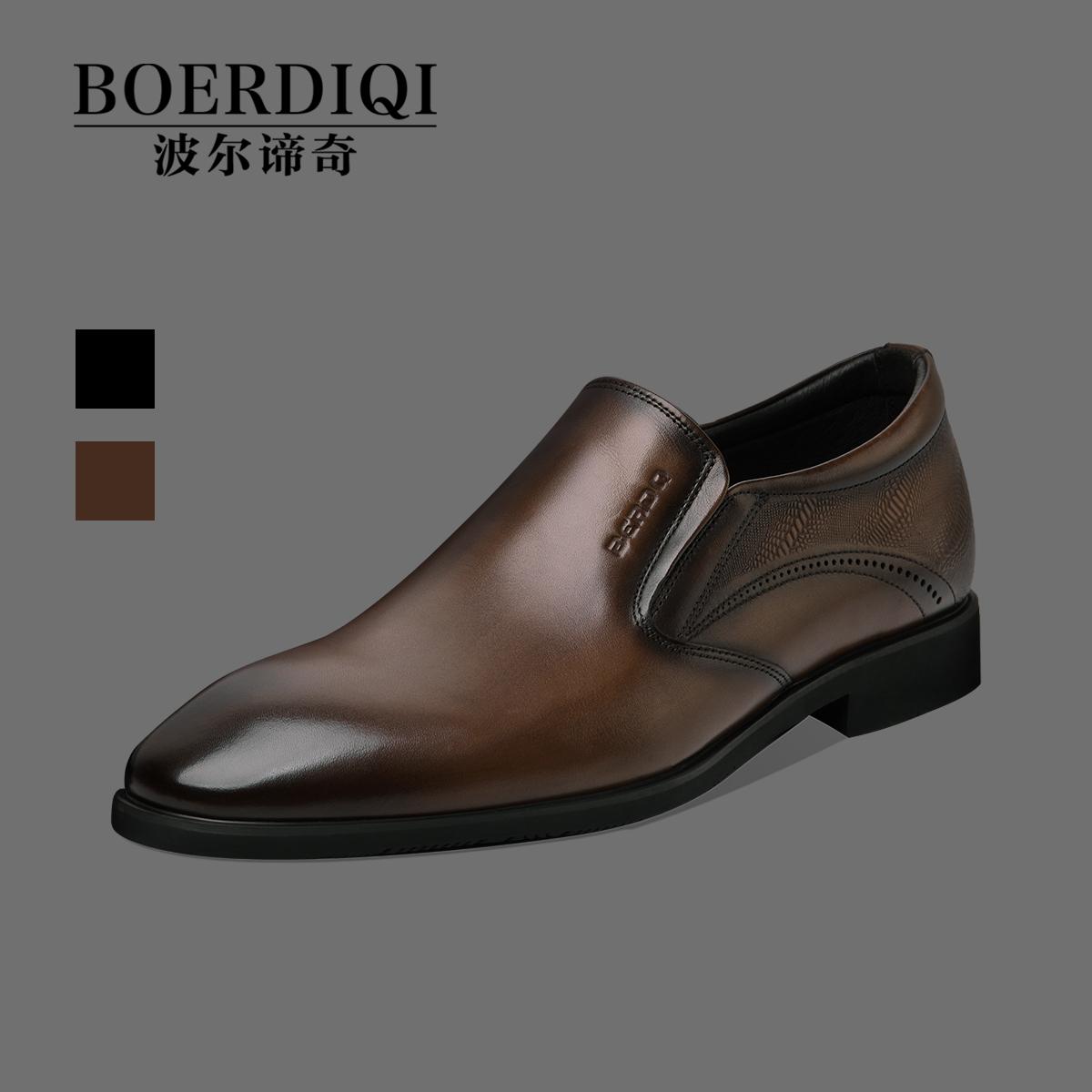 イギリス風の本革の男性靴は復古しています。手作りファッションでカジュアルビジネススーツに靴と靴の社交靴を履いています。