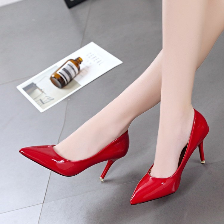 Size 44 46 womens shoes with fat feet 7cm slim heels and pointed toe shoes for men