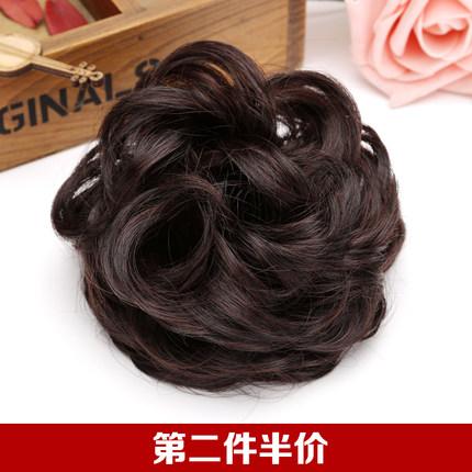 假发发圈盘发花苞头饰丸子头发包头花皮筋卷时尚防真造型丝逸假发