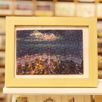 迷你盒裝上海旅游紀念拼圖150片上海風景益智玩具創意節日禮包郵
