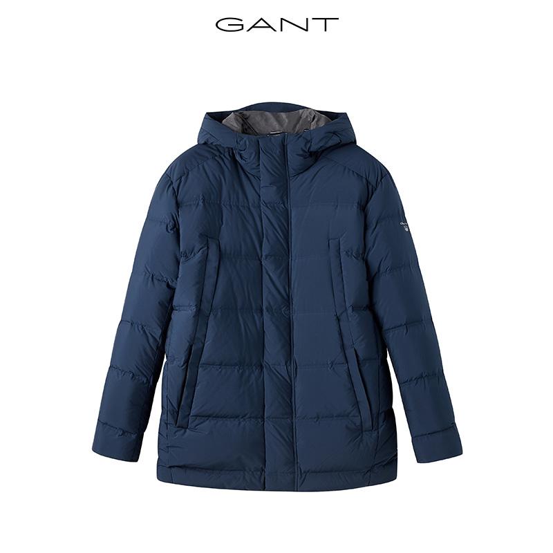 GANT/甘特2019秋冬男士立领连帽中长羽绒服大衣外套7001511图片