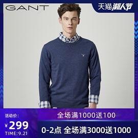 GANT/甘特秋冬男士针织衫圆领套头休闲羊毛混纺毛衣83101