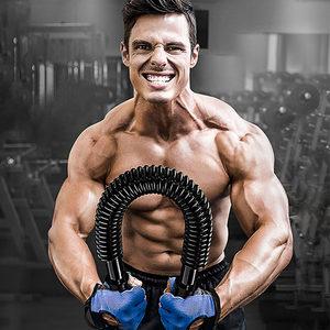 欣怡万嘉臂力器70公斤臂力棒家用健身器材握力棒80KG扩胸棍男