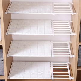 衣柜内收纳隔板分层架宿舍衣橱柜子隔层隔断分隔板伸缩置物架免钉图片