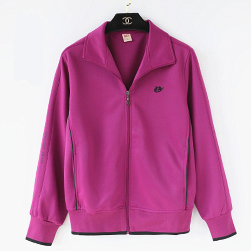 Middle aged and elderly womens wear womens casual sportswear jacket jacket jacket plus bulky size loose mothers wear spring and Autumn