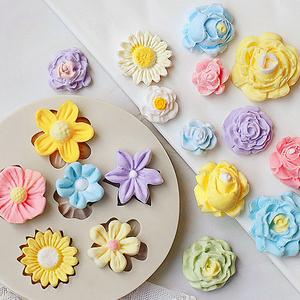 翻糖蛋糕硅胶模具 diy巧克力玫瑰花烘焙玫瑰朱古力模具滴胶工具