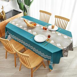 长椭圆形桌布防水防油防烫免洗北欧风ins长方形PVC餐桌垫茶几台布图片