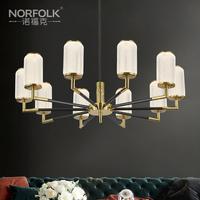 诺福克全铜水晶轻奢吊灯客厅主灯餐厅灯别墅美式简约现代大厅灯具