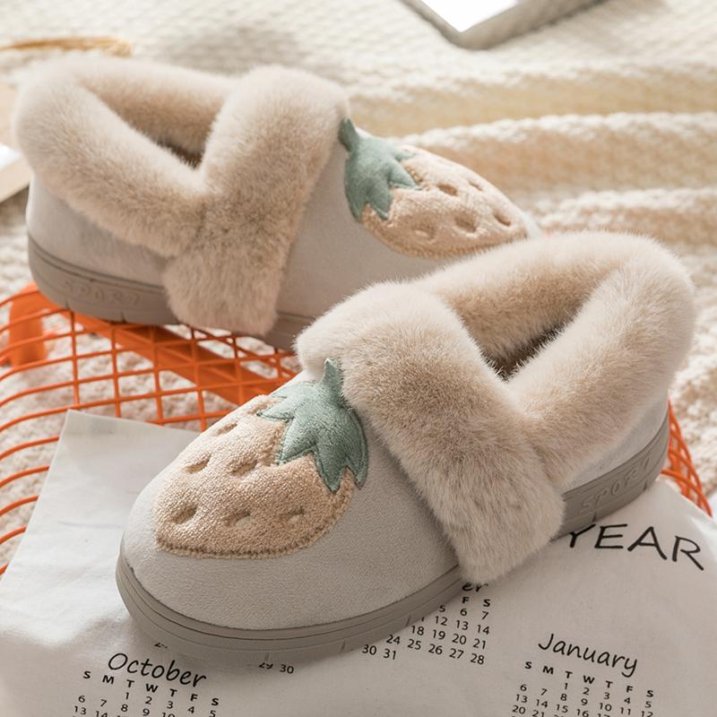 家用冬天可爱包跟棉拖鞋厚底毛拖月子鞋室内保暖家居棉鞋女秋冬季