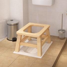 老人坐便器马桶椅子家用木头上携带儿童做便蹲凳子大小便老人椅