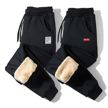 冬季裤子男韩版潮流加绒加厚休闲运动卫裤秋冬款男士工装束脚棉裤
