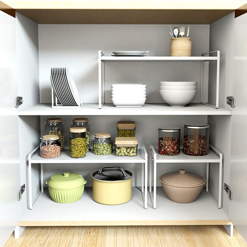 厨房台面铁艺分层桌面收纳储物架
