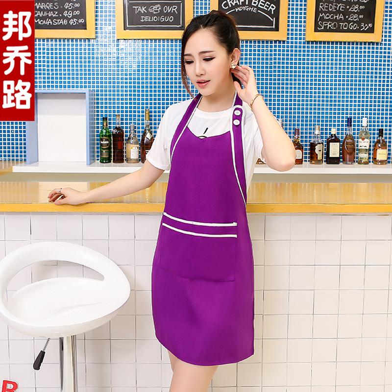 美甲美容院工作服圍裙印字超市母嬰店服務員圍裙定製logo