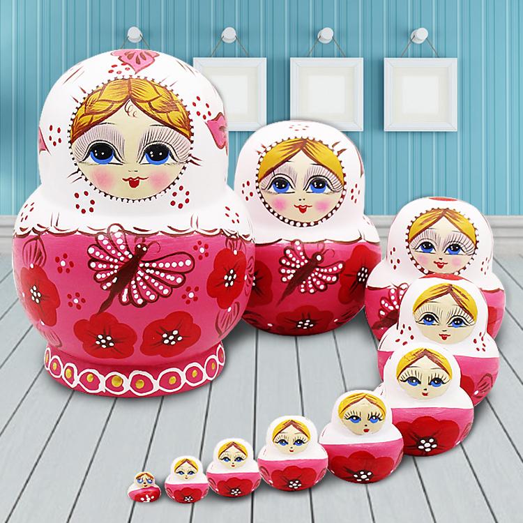 Россия крышка ребенок 10 слой подлинный безвкусный ребенок головоломка игрушка подарок высушенный американская липа характеристика ремесла статья B1